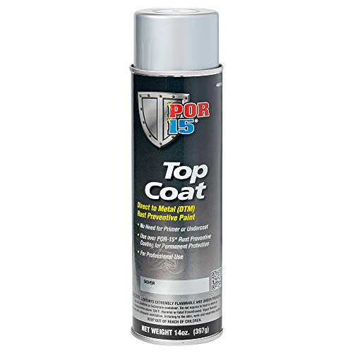 POR-15 46018 Top Coat Silver Spray Paint 15 fl. oz.