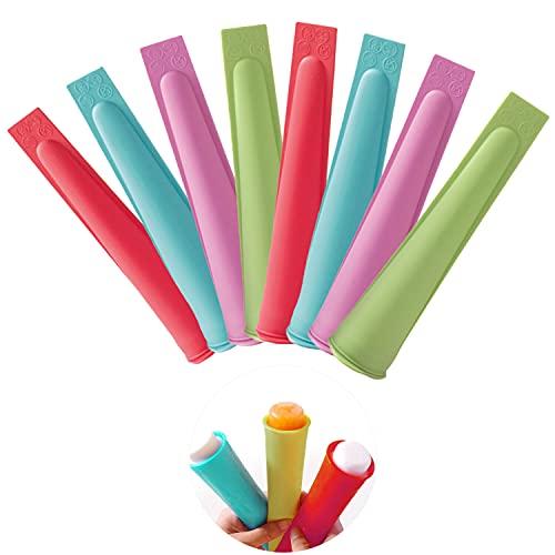 Xnuoyo Stampi Ghiaccioli, Stampi per ghiaccioli in silicone con coperchio, Popsicle Mold DIY riutilizzabili di Formine per Ghiaccioli ghiaccio di popsicle , Set di Stampi Ghiaccio in Silicone