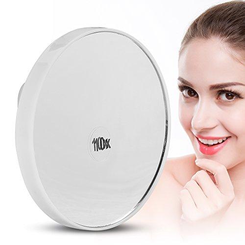 Miroir cosmétique de grossissement 10x, outil portatif de beauté de maquillage de miroir de vanité