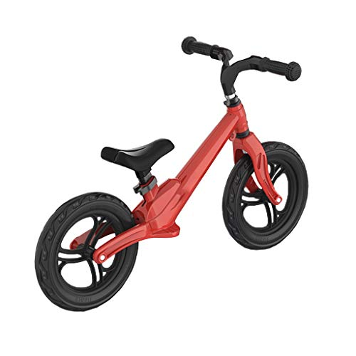 YI-LIGHT Kinder Balance Auto Scooter 1-3-6 Jahre altes Kind Doppel Rad Kein Fußpedal Slide Walker Magnesiumlegierungsmaterial Einteilige (Color : Red)