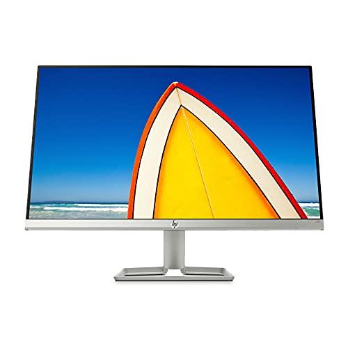 HP 24f Monitor (24 Zoll Display, Full HD IPS, 75Hz, AMD FreeSync, HDMI, VGA, 5ms Reaktionszeit) schwarz / silber