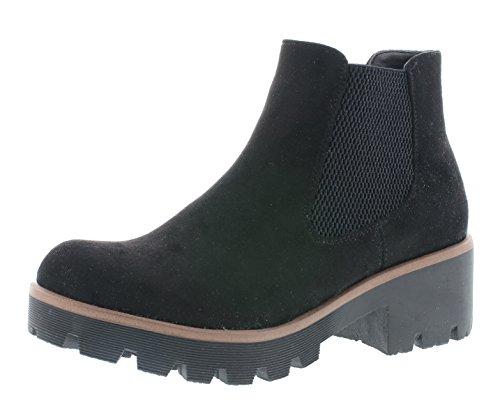 Rieker Damen Chelsea Boots 99284, Frauen Stiefeletten,halbstiefel,Kurzstiefel,uebergangsstiefel,Schlupfstiefel,schwarz (00),39 EU / 6 UK