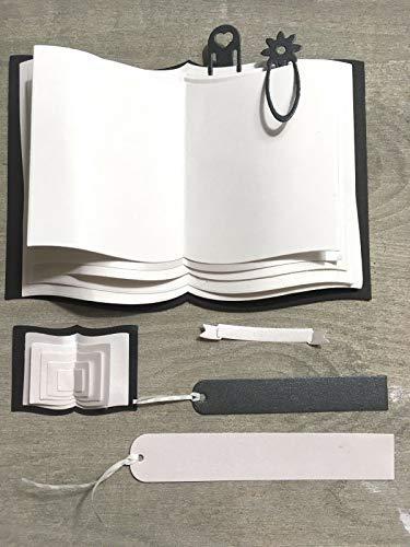 Simplelettering Stanzschablone Cutting Dies Buch, Seiten, Lesezeichen geeignet für Big Shot