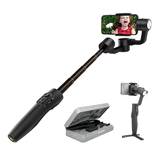 Feiyutech Vimble 2S Smartphone Gimbal Handheld 3-Axis Stabilizer 180mm Extendable for iPhone 12 11 X XR Xs 8 7P,Huawei P9,Samsung S8+S9,XIAOMI,with Tripod,Black