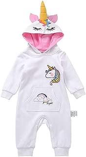 Hooded Infant Unicorn Onesie, Pajamas, Romper, Bodysuit, Unicorn Costume