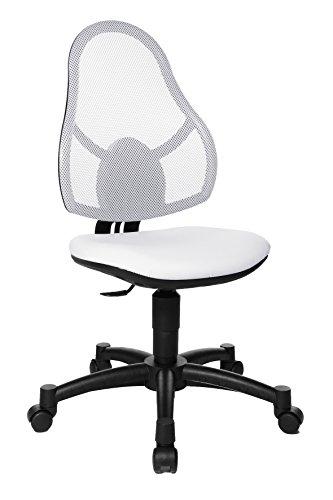 Topstar Open Art Junior, krzesło biurowe dla dzieci i młodzieży, materiał obiciowy, kolor biały