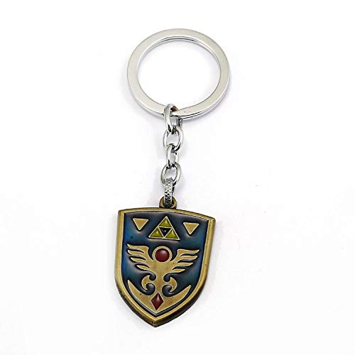 Hylian Shields Keychain For Game The Legend of Zelda Fans Keyring Alloy Metal Jewelry Accessories