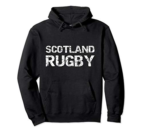 Distressed Scottish Rugby Quote Gift for Men Scotland Rugby Pullover Hoodie