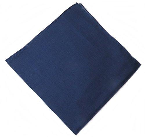 Western Ranch Bandana Halstuch Nikkituch Kopftuch Baumwolle viele leuchtende Uni Farben aussuchen (marineblau)