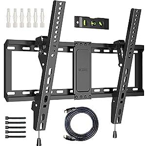 Universal TV Wandhalterung: Für die meisten 37'' - 82'' flachen und gebogenen Fernseher mit einem Gewicht von bis zu 60 kg; Kompatible VESA-Löcher: 600x400/400x400/400x300/400x200/300x300/300x200/200x200/200x100mm. Bitte bestätigen Sie vor dem Kauf d...