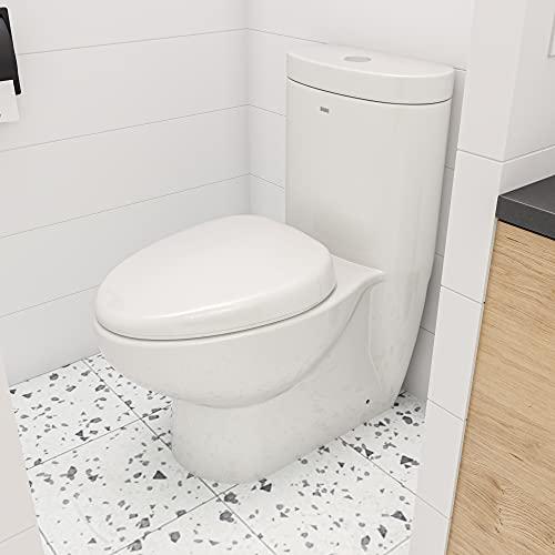 EAGO TB309 Tall Dual Flush Eco-Friendly Ceramic Toilet, 1-Piece