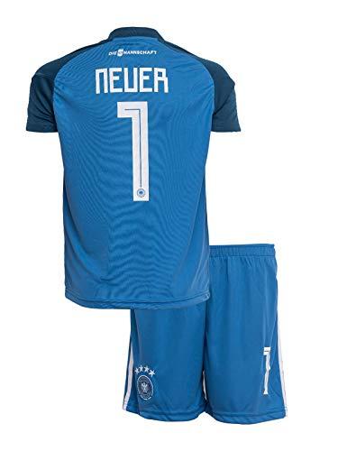 Deutschland #1 Neuer Weltmeisterschaft 2018 Torwart Edition Kinder Fußball Trikot Hose und Socken Kindergrößen (176)