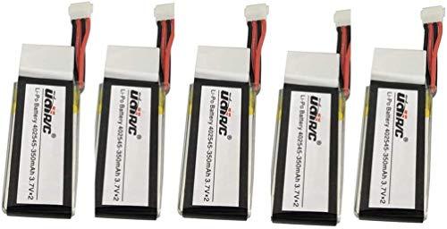 ZYGY 5PCS 3.7V 350Mah Lipo Baterías para UDI U818A WiFi FPV U845A U945 WiFi RC Quadcopter Repuesto Drone Batería