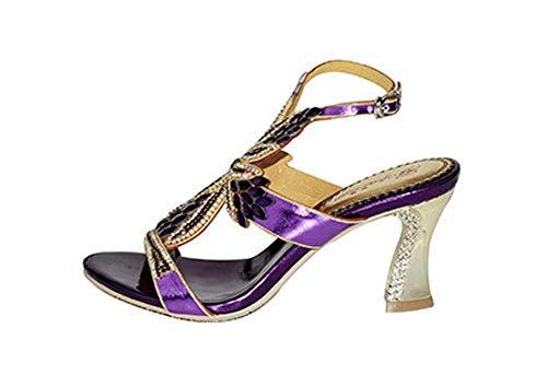 Sandalias de mujer con diamantes de imitación, sandalias de noche, zapatos de...