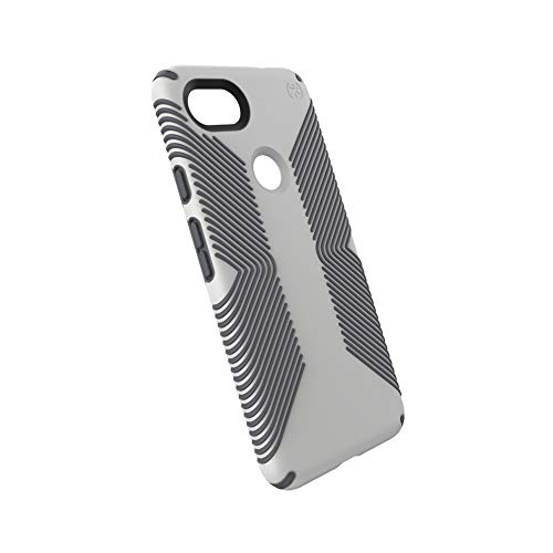Speck Products Google Pixel 3a XL Case, Presidio Grip, Marble Grey/Anthracite Grey
