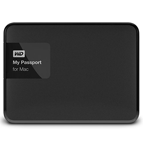 WD WDBCGL0020BSL-EESN My Passport for Mac Hard Disk Esterno Portatile, USB 3.0, 2 TB