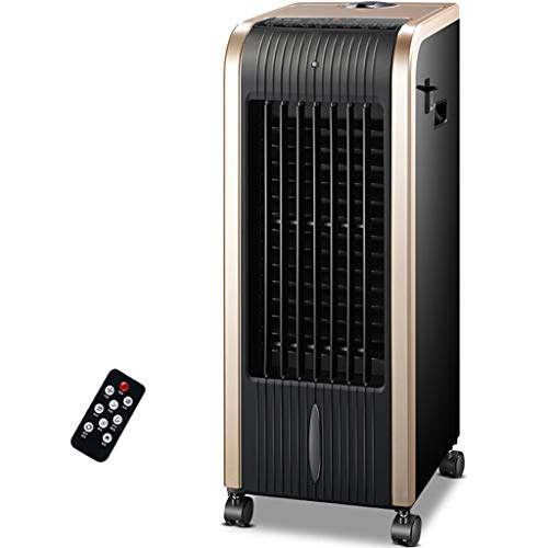 Chauffage et refroidissement, Ventilateur de climatisation à double usage, Ventilateur de tour de contrôle à distance, Noir (Color : Black)