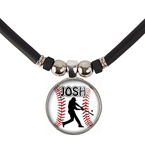 Baseball Charm Necklace- Unisex Baseball Pendant Jewelry - Customized Baseball Necklace with Name and Number- Perfect for Baseball Players, Baseball Moms, Baseball Teams and Coaches