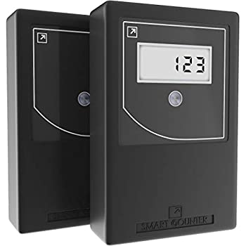 Smart Counter IR+  B  Infrared Wireless People Counter | Door Counter Protected from Unauthorized Reset | Traffic Counter Automatically Counts and displays Data on a Display | Visitor Retail Counter|