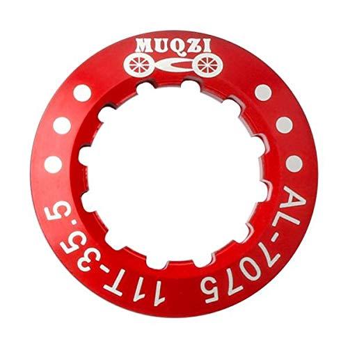 F Fityle Verschlussring für Bremsscheiben, Center-Lock Ring Zentralbefestigung für 8-11 Geschwindigkeit Mountain Bike - rot