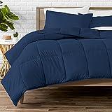 Bare Home Comforter Set - Twin/Twin Extra Long - Goose Down Alternative - Ultra-Soft - Premium 1800 Series - All Season Warmth (Twin/Twin XL, Dark Blue)