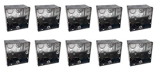 Klite 47 mm 1-Gang-Wandunterputzdose aus Metall, Unterputzmontage, für Steckdosen, Schalter, 10 Stück