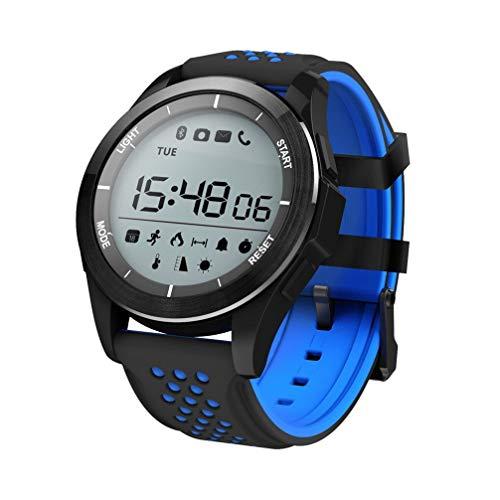 AUOKP Smart Watch Ip68 wasserdichte F3 Smartwatch Outdoor Fitness Tracker Nachricht Anruf Erinnerung Tragbare Geräte Für Android Ios, Blau