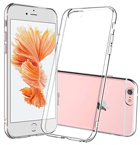 Whew iPhone 6/iPhone 6s Hülle, HD Transparent Anti-Gelb Hard PC Back & Soft Silikon Hybrid Handyhülle, Kratzfest Durchsichtige Schutzhülle Case für iPhone 6/iPhone 6s