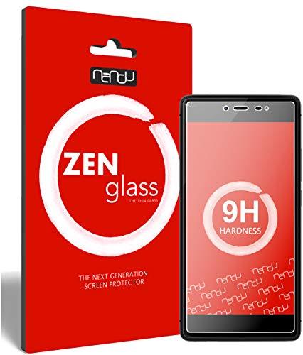 ZenGlass Flexible Glas-Folie kompatibel mit Wiko Fever 4G Panzerfolie I Bildschirm-Schutzfolie 9H I (Kleiner Als Das Gewölbte Bildschirm)