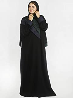 Hawaa abaya with head scarf For Women, Size S/52, Multi Color