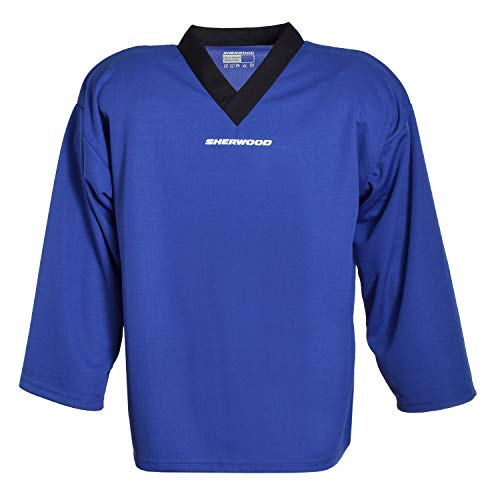 Sherwood Kinder Trainingstrikot Sher-Wood Practice Jersey Eishockey-Trikot, blau, XXXS