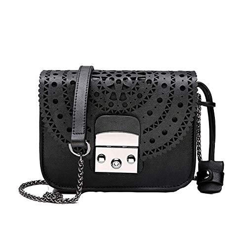 Lederen dames handtas, uitsparing kleine vierkante tas schoudertas, geschikt voor dating werk partij reisgeschenken