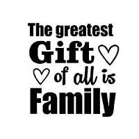 バンパーガラスステッカー 最大の贈り物は、家族の車のステッカーデカールビニール愛12.8CMX13.1CMです (Color : Black)
