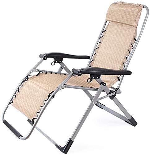 Klappliege Stuhl Camping Liegestühle Tragbare Breathsonnenliege für Patio Garden Beach Pool im Freien Leicht Lehnstuhl,Beige