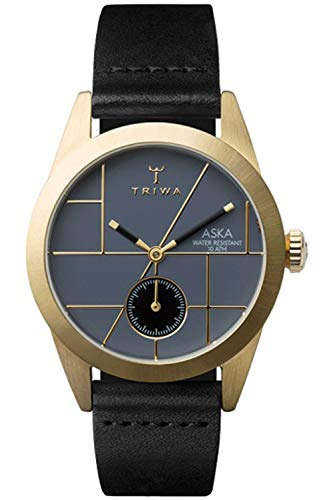 Triwa aska Damen Uhr analog Japanisches Quarzwerk mit Leder Armband AKST105SS