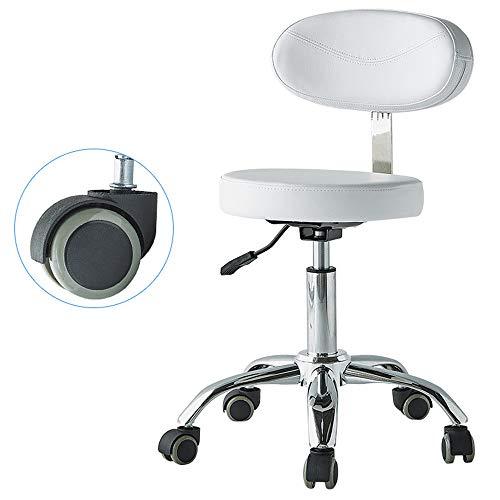 Nobrannd Massage Hocker Aufgaben-Stuhl Techniker Zahnarzt Aufzug Maniküre Tattoo Sattel Friseur Chirurgie Stuhl Höhenverstellung (Color : White, Size : A)
