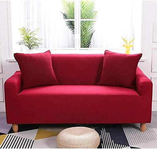 Funda para sofá (impermeable, elástica, 90 x 140 cm), color rojo