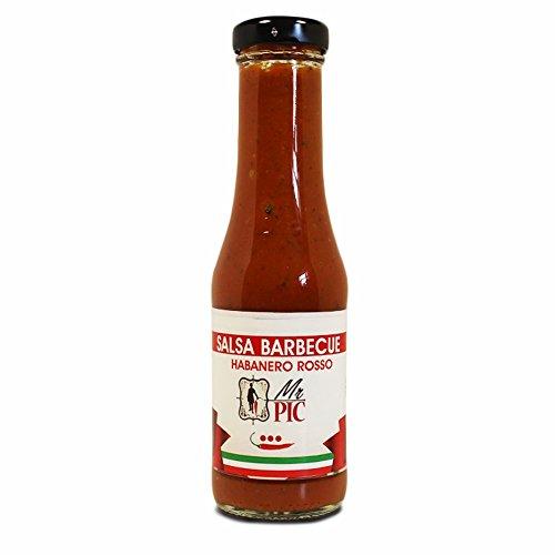 Salsa BBQ Habanero Rosso (300 ml) - Mr PIC: il Peperoncino Toscano di alta qualità - Carmazzi: la più ampia linea di prodotti piccanti in Italia