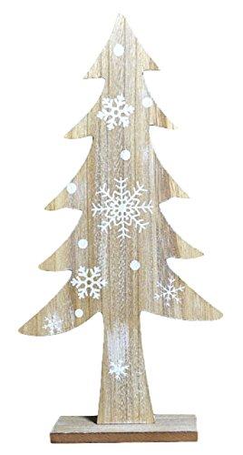 Decorazione In Legno A Forma Di Albero Di Natale, 23,5 Cm.