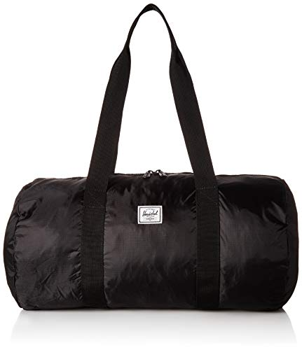 Herschel Packable Weekend Duffel Bag, Black/Black, One Size 22.0L