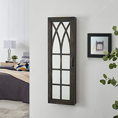 FirsTime Co Rustic Arch Jewelry Armoire Accent Wall Mirror 43 x 14 x 35