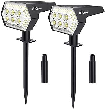 2-Pack Whousewe 108 LEDs Solar Landscape Spotlights