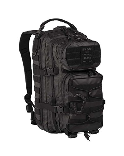 Mil-Tec US Assault Pack Backpack,L,Tactical Black