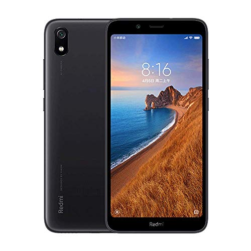 Xiaomi Redmi 7A (32GB, 2GB RAM) 5.45' Display, Face ID, Dual SIM GSM Factory Unlocked (US + Global 4G LTE International Model) (Black)