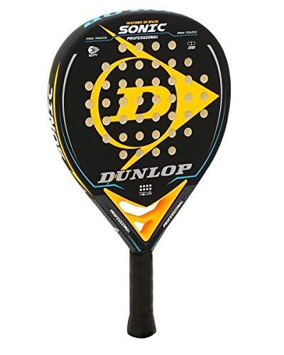 Pala de Padel Dunlop Sonic + Overgrip Incluido / Palas de Padel para Hombre Mujer y niño / para Nivel intermedio y avanzado excelente Control y golpeo de Pelotas