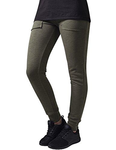 Urban Classics Ladies Fitted Slub Terry Pants Pantalones para Mujer