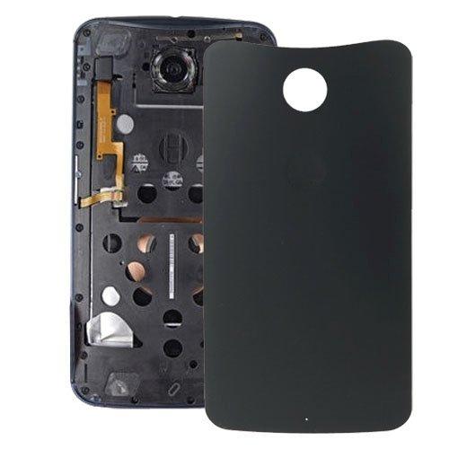 xiaowandou Reparar para su teléfono Tapa Trasera de batería for Accesorio Google Nexus 6 a renovación (Color : Black)