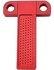 Regla tipo T Regla de medición de orificios, calibre de trazado Aleación de aluminio Regla de medición de orificios tipo T Herramienta de marcado para carpintería Material de aleación de aluminio de 0