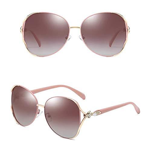 Gafas de sol polarizadas para mujer, 100% protección UV400 contra los dañinos rayos UV/UVB, marco de metal S gafas de sol.