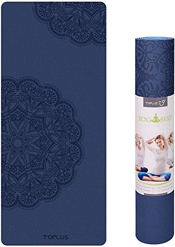TOPLUS Yoga Mat, Classic Pro Fitness Mat TPE Eco Friendly Non Slip Exercise Mat with...